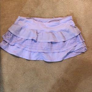 purple ruffled lululemon skirt